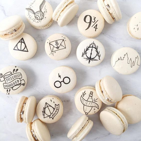 Photo de macarons Harry Potter pour une baby shower